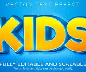 Kids vector text effect