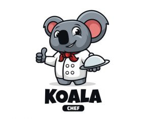 Koala chef cartoon vector