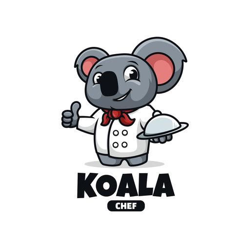 Koala chef cartoon vector