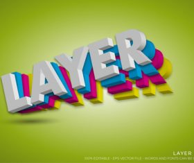 LAYER text style effect vector