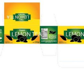 Lemon Tea packaging design vector