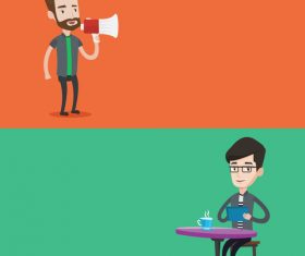 Life of people cartoon illustration vector