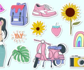 Life sticker vector
