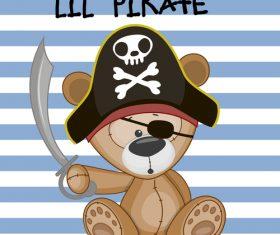 Lil pirate illustration vector