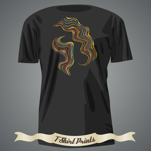 Line abstract t shirts prints design vector