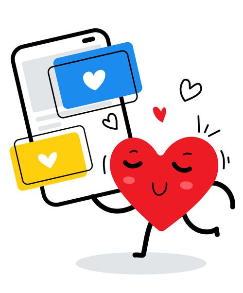 Love letter delivery cartoon illustration vector