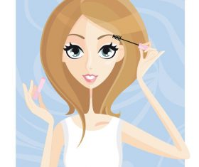 Makeup cartoon illustration vector