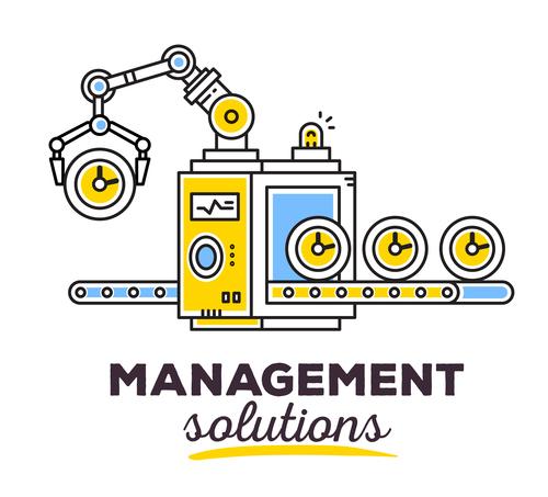 Management sotutions concept vector