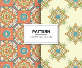 Mandala pattern seamless background design vector