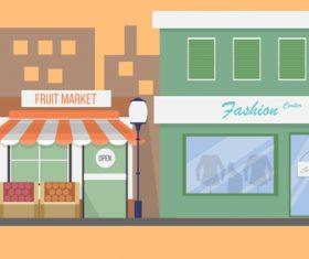 Market illustration background vector
