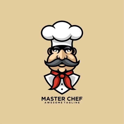 Master chef logo vector