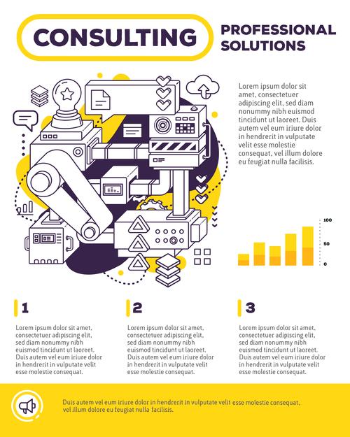 Mechanism design poster vector