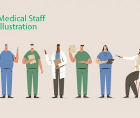 Medical staff illustration vector