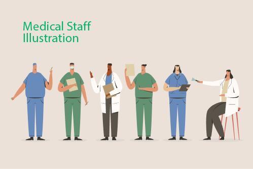 Medical staff illustration vector