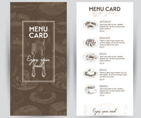 Menu card vector