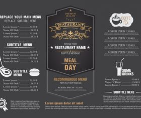 Menu layout design vector