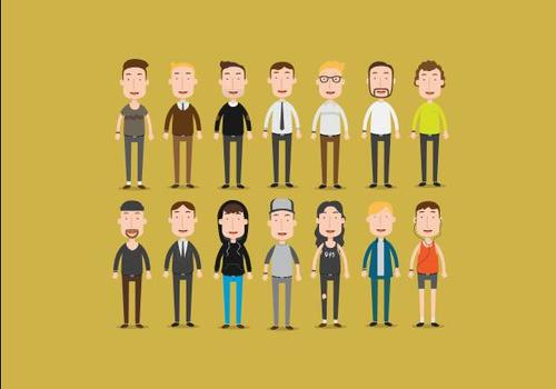 Middle aged people vector