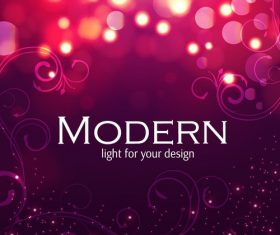 Modern light abstract background vector
