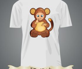 Monkey t-shirts prints design vector