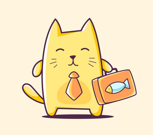 Mr Cat Cartoon Illustration Vector