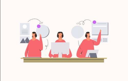 Multitasking women vector