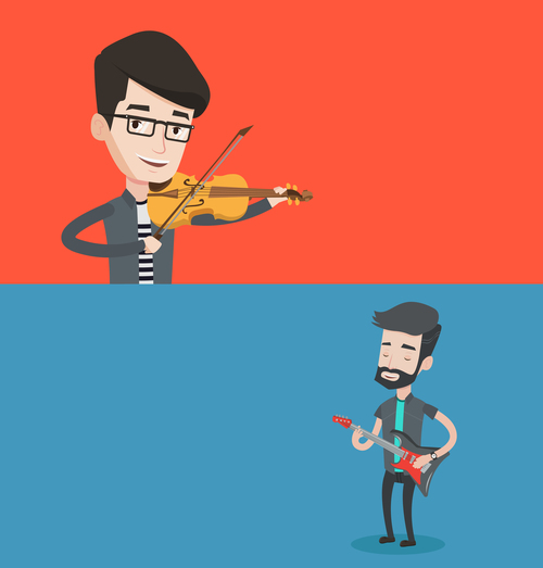 Music people vector