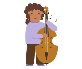 Musician profession character vector