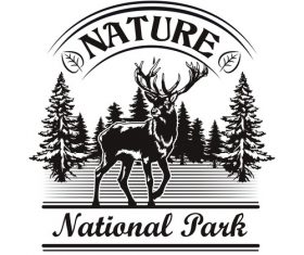 Nature and park symbol design vector