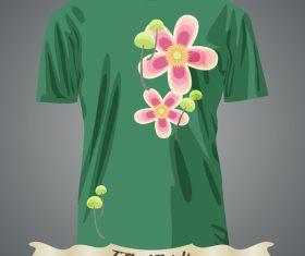 Nature pattern t-shirts prints design vector