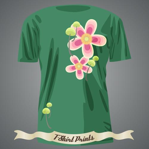 Nature pattern t shirts prints design vector