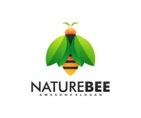 Naturebee bee logo vector