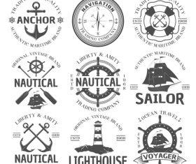 Nautical logo vector