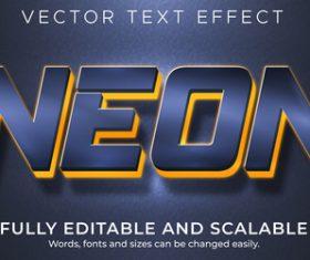 Neon vector text effect