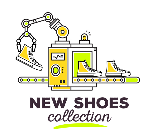 New shoes cottection concept vector