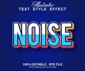 Noise text style effect vector