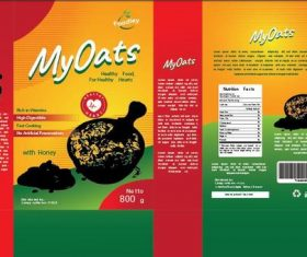 Oat packaging design vector