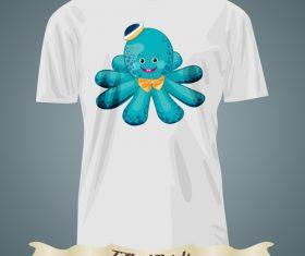 Octopus t-shirts prints design vector