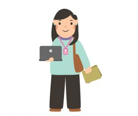 Office worker profession character vector