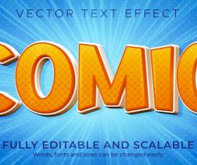 Orange font editable text effect vector