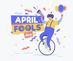 Organic flat april fools day illustration vector