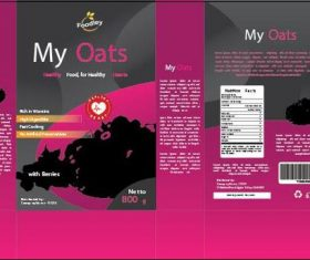 Organic oat packaging design vector
