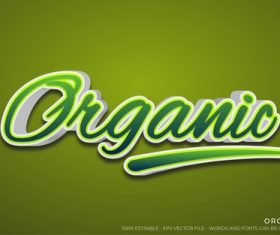 Organic text style effect vector