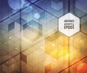 Overlapping geometric abstract background vector