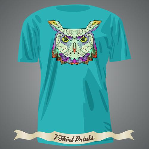Owl T Shirts prints design vector
