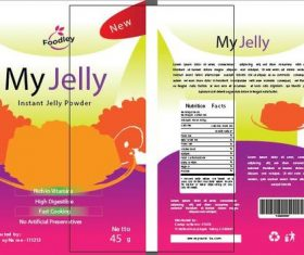 Packaging design jelly vector