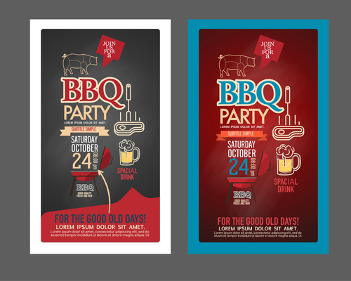 Party advertising card vector