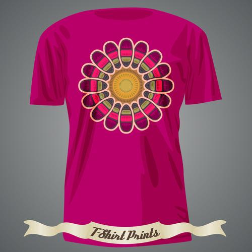 Pattern t shirts prints design vector
