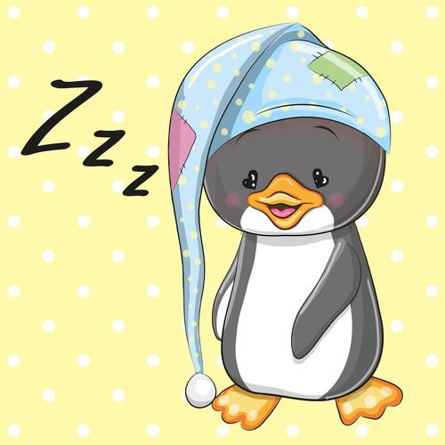 Penguin baby cartoon illustration vector