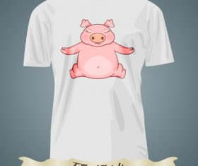 Pig t-shirts prints design vector