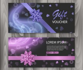 Pink and blue background gift voucher vector